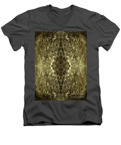 Tessellation No. 4 Men's V-Neck T-Shirt by David Gordon