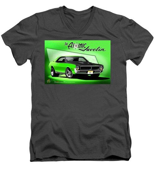 The Atomic Javelin Men's V-Neck T-Shirt