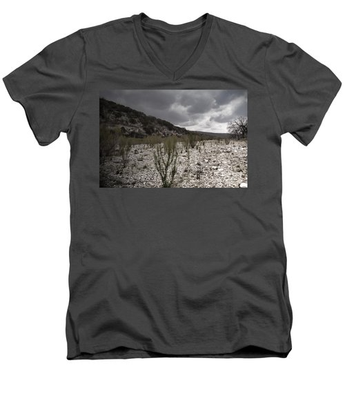 The Bank Of The Nueces River Men's V-Neck T-Shirt
