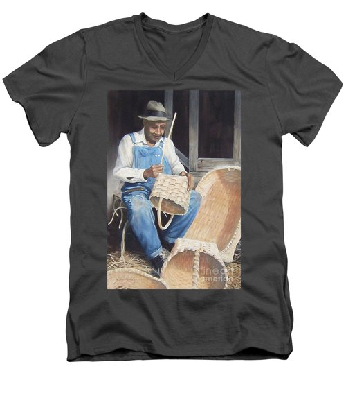 The Basket Maker ...sold  Men's V-Neck T-Shirt