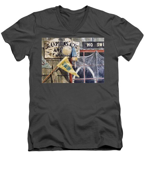 The Captains Attic Sold Men's V-Neck T-Shirt