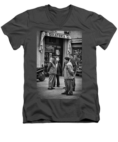 Men's V-Neck T-Shirt featuring the photograph The Conference by Hugh Smith