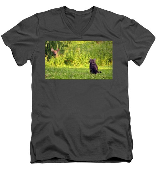 The Deer Hunter Men's V-Neck T-Shirt