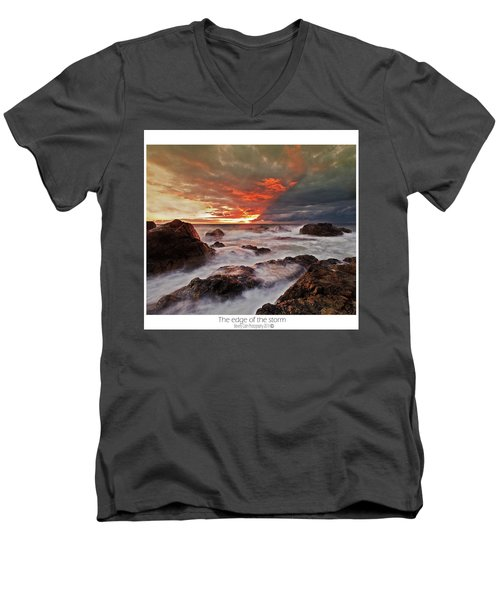 Men's V-Neck T-Shirt featuring the photograph The Edge Of The Storm by Beverly Cash