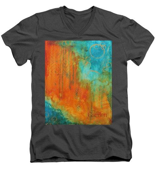 The Garden Men's V-Neck T-Shirt by Nicole Nadeau