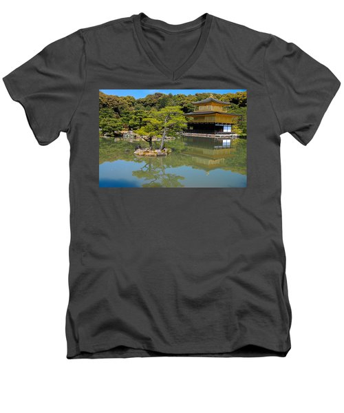 The Golden Pavilion Men's V-Neck T-Shirt