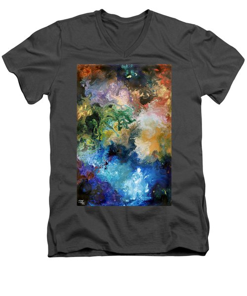 The Great Diversity Men's V-Neck T-Shirt by Sally Trace