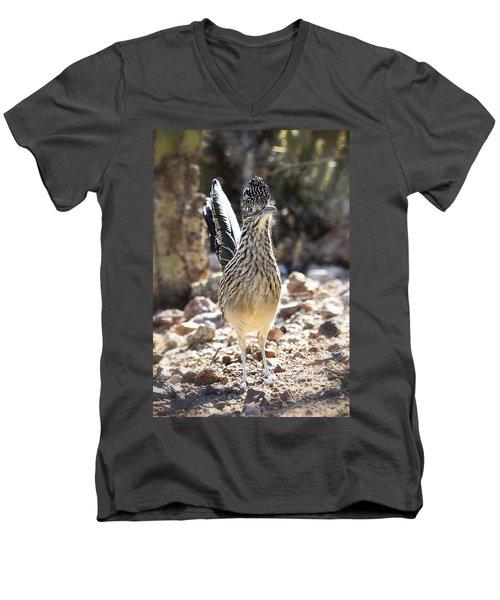 The Greater Roadrunner  Men's V-Neck T-Shirt by Saija  Lehtonen