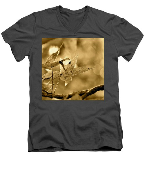 The Gum Leaf Men's V-Neck T-Shirt