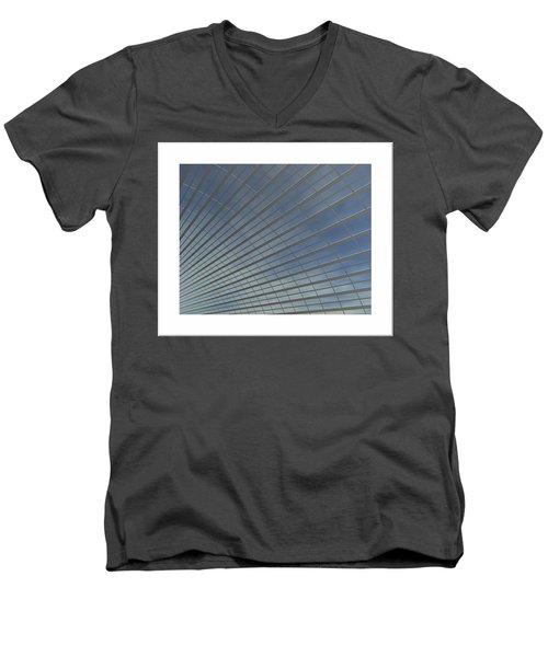 Men's V-Neck T-Shirt featuring the digital art The Hangar... by Tim Fillingim