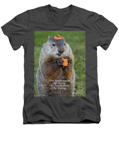 The Heart Earns By Trying Men's V-Neck T-Shirt by Paul W Faust -  Impressions of Light