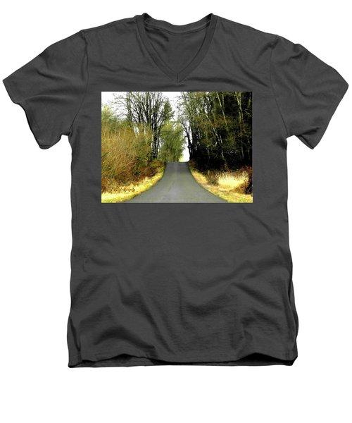 The High Road Men's V-Neck T-Shirt by Sadie Reneau