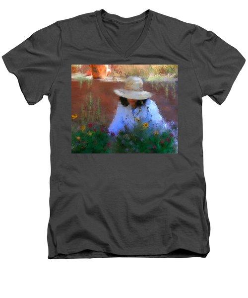 The Light Of The Garden Men's V-Neck T-Shirt