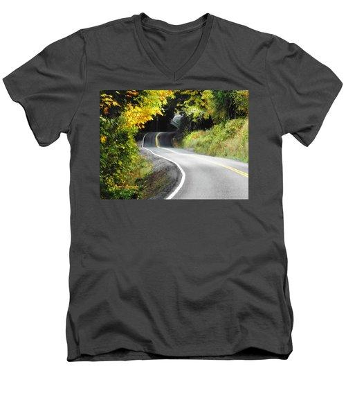 The Low Road Men's V-Neck T-Shirt by Sadie Reneau