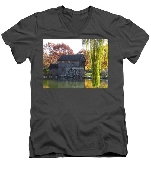 Men's V-Neck T-Shirt featuring the photograph The Millhouse by Julia Wilcox