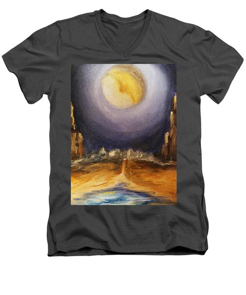 the Moon Men's V-Neck T-Shirt