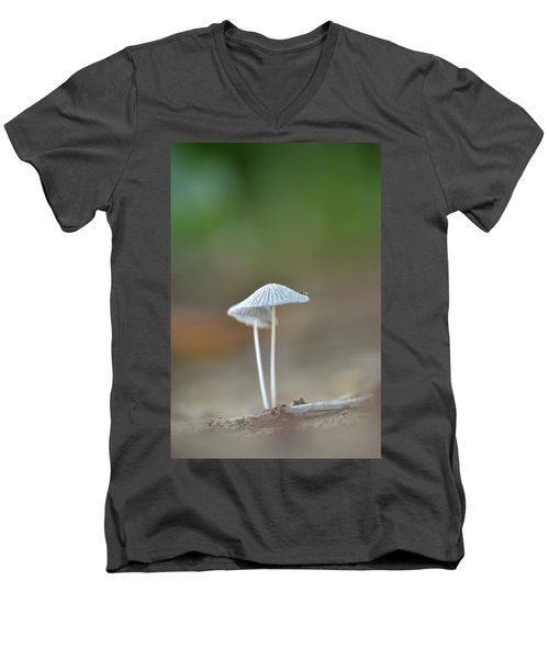 Men's V-Neck T-Shirt featuring the photograph The Mushrooms by JD Grimes