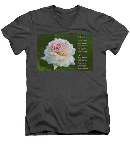The Peace Rose Men's V-Neck T-Shirt