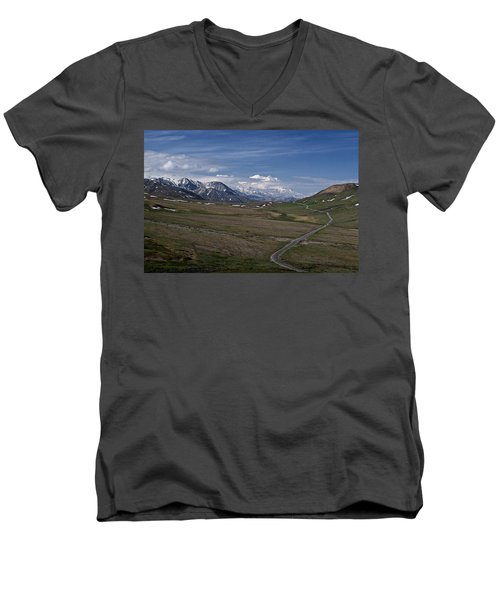 The Road To The Great One Men's V-Neck T-Shirt by Wes and Dotty Weber