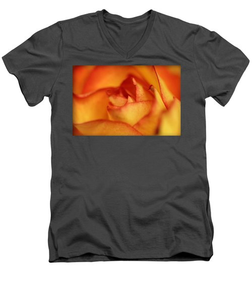 Men's V-Neck T-Shirt featuring the photograph The Rose by EricaMaxine  Price