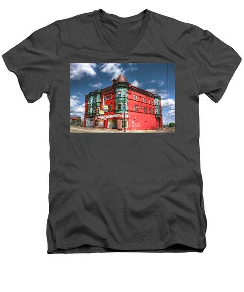 The Sauter Building Men's V-Neck T-Shirt by Dan Stone