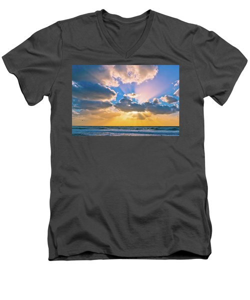 The Sea In The Sunset Men's V-Neck T-Shirt