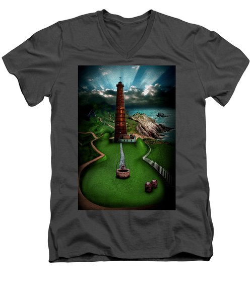 The Sound Of Silence Men's V-Neck T-Shirt