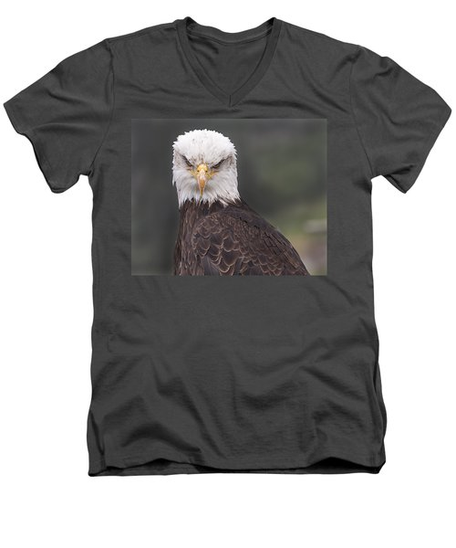 Men's V-Neck T-Shirt featuring the photograph The Stare by Eunice Gibb
