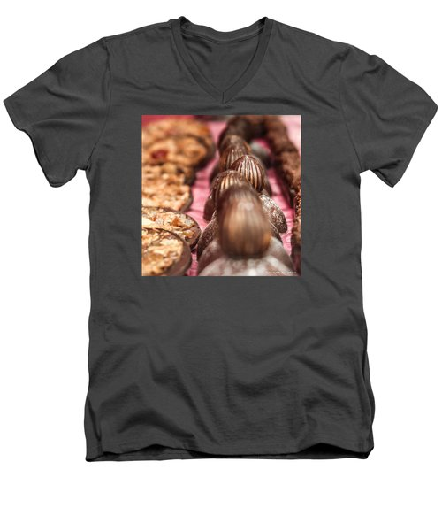 Men's V-Neck T-Shirt featuring the photograph The Uncontrollable Greed by Stwayne Keubrick