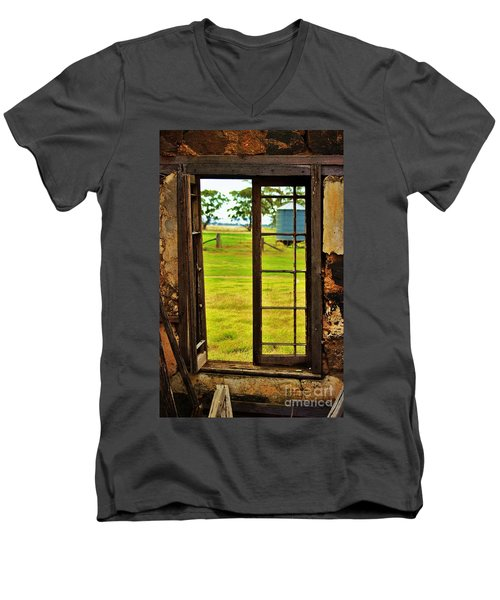 Men's V-Neck T-Shirt featuring the photograph The View From Within by Blair Stuart