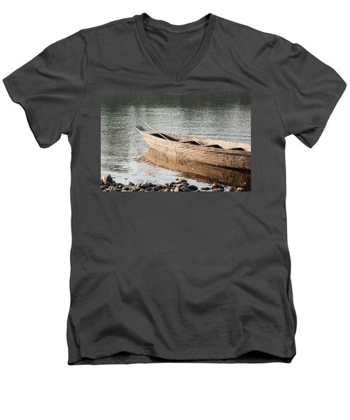 Men's V-Neck T-Shirt featuring the photograph The Wait by Fotosas Photography