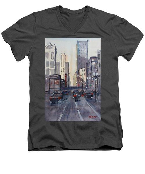 Theatre District - Chicago Men's V-Neck T-Shirt by Ryan Radke