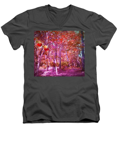 Men's V-Neck T-Shirt featuring the photograph Thicket In Color by George Pedro