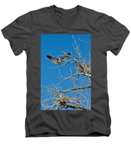 Time To Nest Men's V-Neck T-Shirt