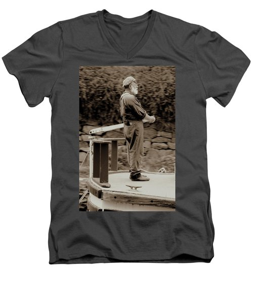Men's V-Neck T-Shirt featuring the photograph Timeless Serenity by Suzanne Stout