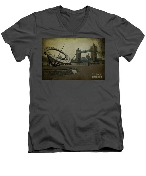 Men's V-Neck T-Shirt featuring the photograph Timepiece. by Clare Bambers