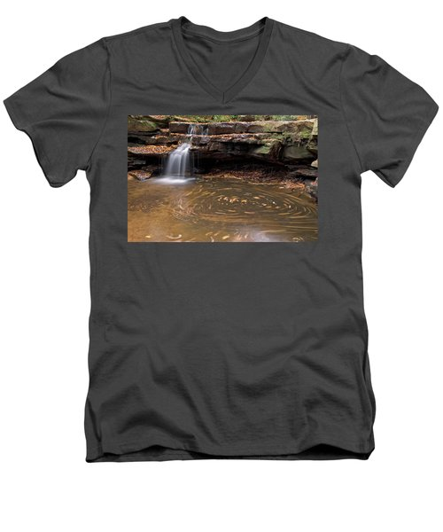 Tolliver Falls Men's V-Neck T-Shirt by Jeannette Hunt