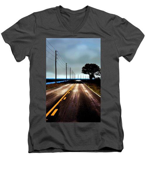 Towards The Coast Men's V-Neck T-Shirt
