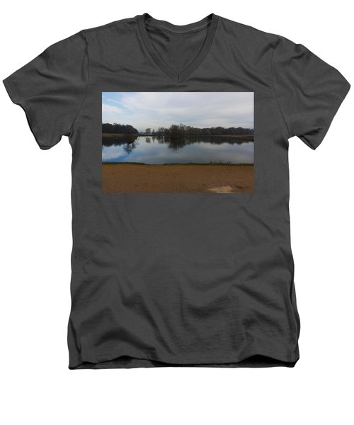 Men's V-Neck T-Shirt featuring the photograph Tranquil by Maj Seda