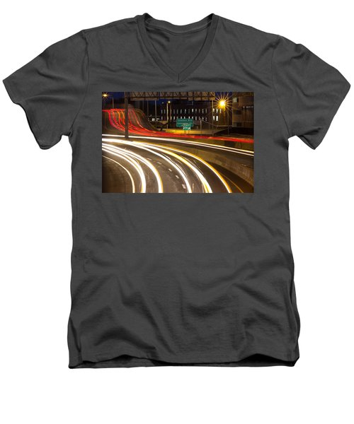 Traveling In Time Men's V-Neck T-Shirt