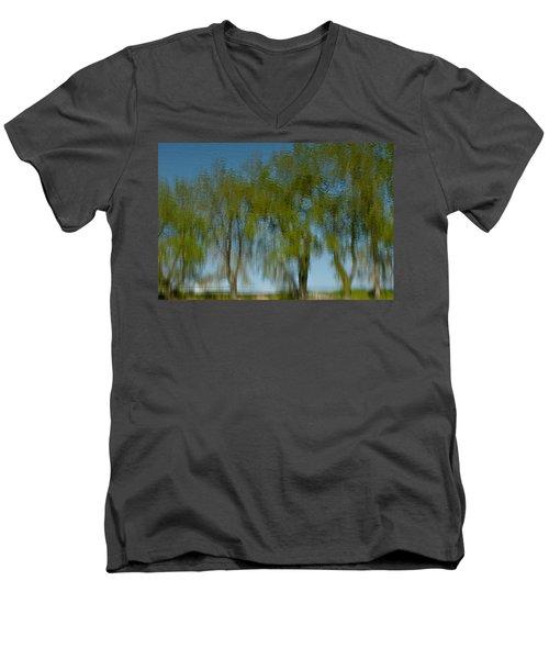 Tree Line Reflections Men's V-Neck T-Shirt