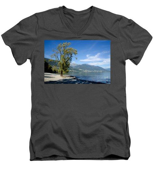 Tree On The Beach Men's V-Neck T-Shirt