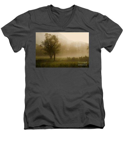 Trees And Fog Men's V-Neck T-Shirt
