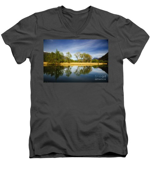 Trees Reflections On The Lake Men's V-Neck T-Shirt