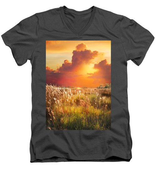 Tropical Savannah Men's V-Neck T-Shirt
