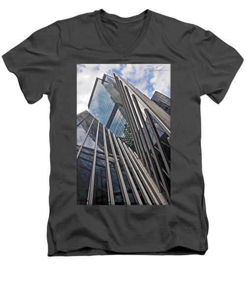 Trylon Towers Men's V-Neck T-Shirt