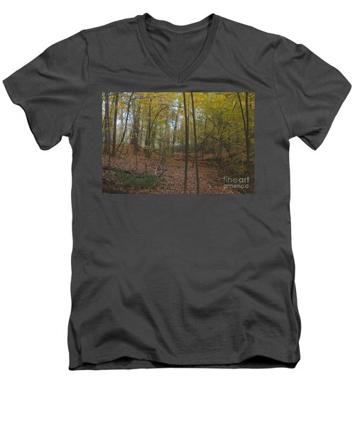 Men's V-Neck T-Shirt featuring the photograph Tryon Park by William Norton