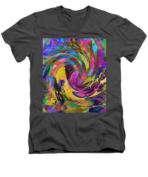 Tsunami Men's V-Neck T-Shirt by Kevin Caudill