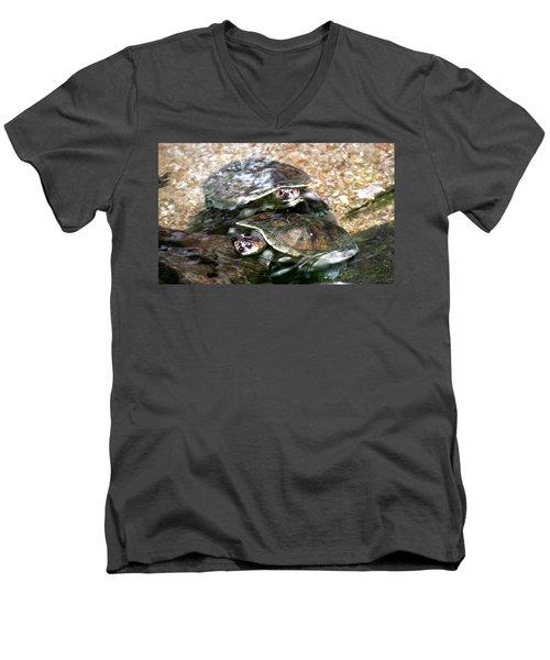 Turtle Two Turtle Love Men's V-Neck T-Shirt