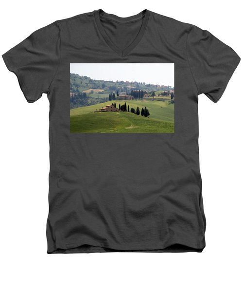 Men's V-Neck T-Shirt featuring the photograph Tuscany by Carla Parris
